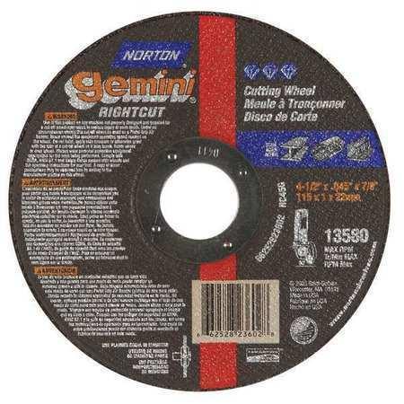 "NORTON 66252823603 CutOff Whl,Gemini Rightcut,5/""x.045/""x7//8/"""