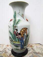 Antique Late 19th Century Chinese Porcelain Ladies & Butterflies Vase.