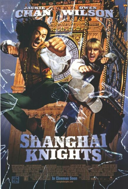 Shanghai Knights Movie Poster 27x40 B Jackie Chan Owen Wilson Donnie