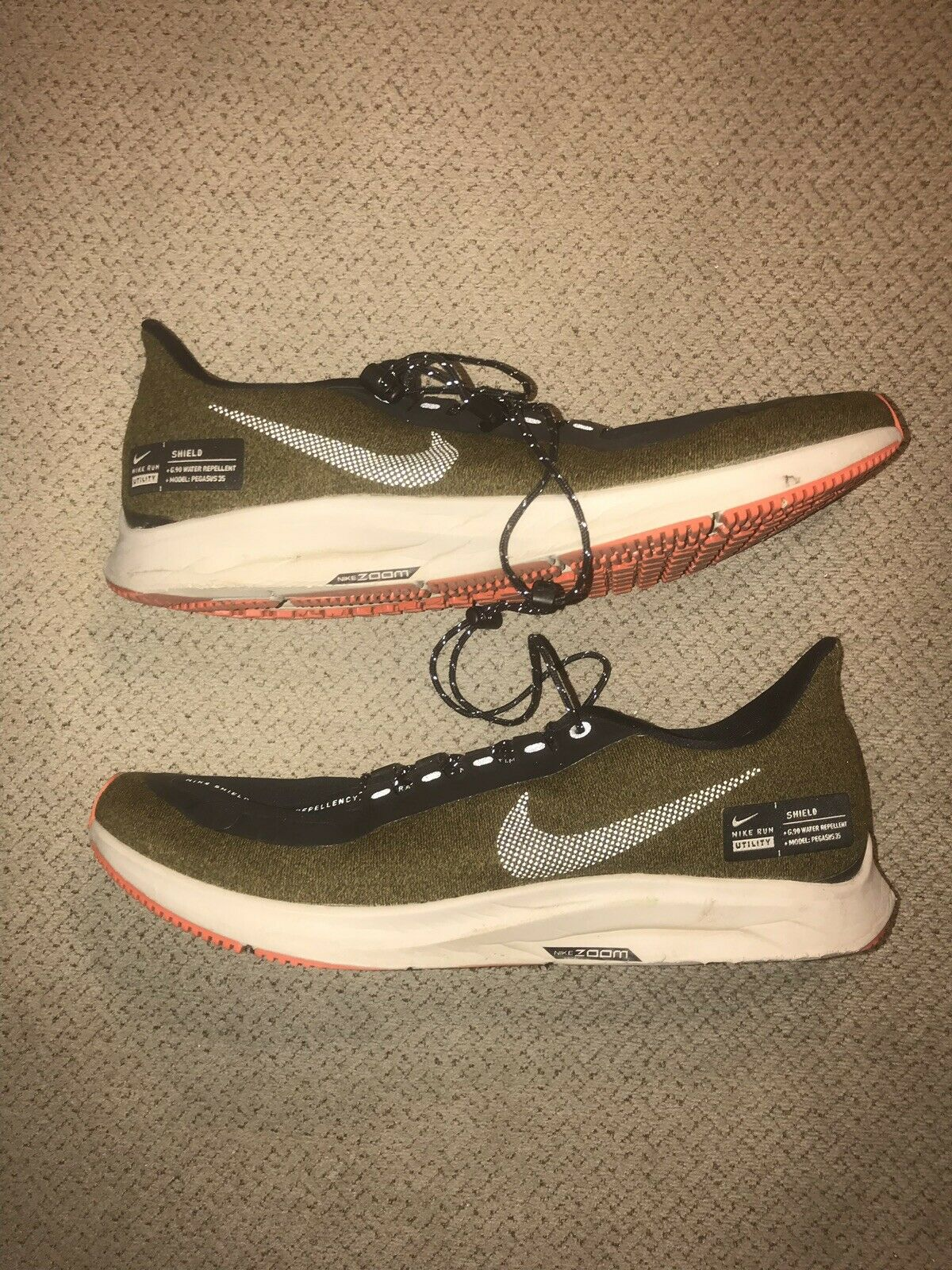 Nike Air Zoom Pegasus 35 Shield [AA1643-300] Men Running shoes Olive Sz 10