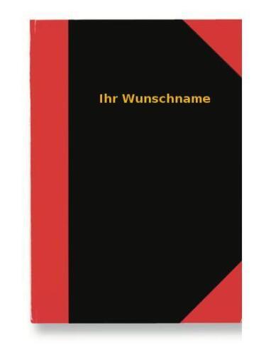 A5 Notizbuch mit goldfarbender Gravur kariert 96 Blatt Kladde