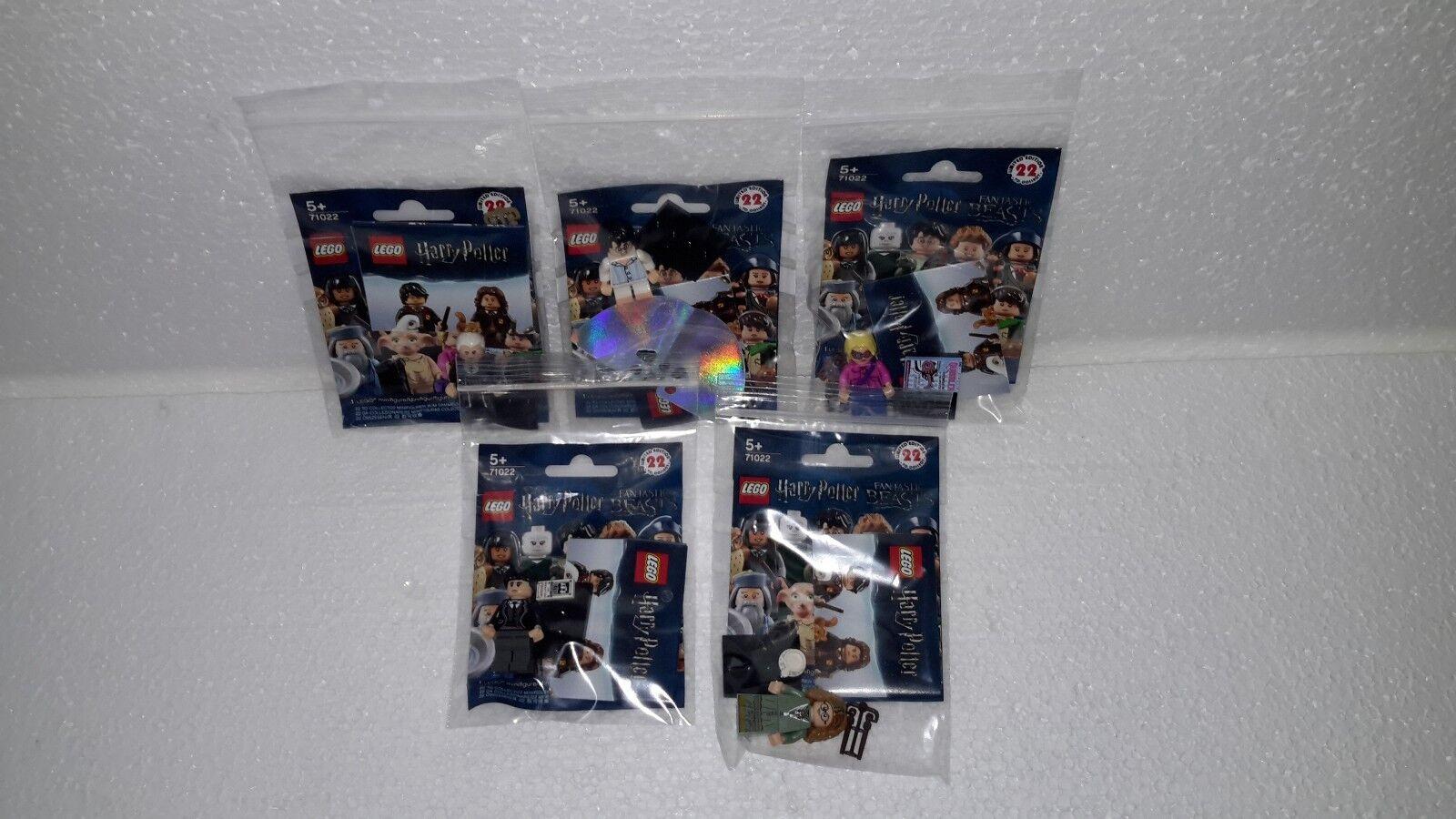 LEGO 71022 tutti 5 RARE Grindelwald Potter con mantellina/luna/Sybil Barebone