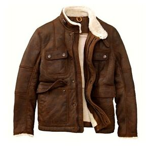 Timberland Mount Major Brown Distress Leather Shearling