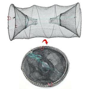 Nylon Crab Net Trap Cast Dip Cage Fishing Bait Fish Minnow Crawfish Shrimp Sale