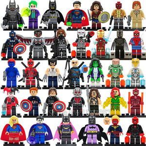 34 Pcs MiniFigures Lego Super Heroes MARVEL.DC Series Batman Superman