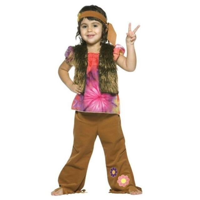 Hippie Girl Halloween Costume.Hippie Girls Halloween Costume Dress Up Shirt Vest Pants Headband 3t 4t