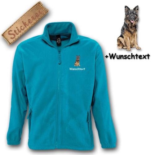 Schäferhund Bestickt Stickerei Jacke Fleece Hund M1 Wunschtext IFqgPwP