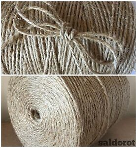 1-10 M 3ply- 6 Mm Super Fort Naturel Jute Ficelle String De Hesse Jute Rustique-afficher Le Titre D'origine