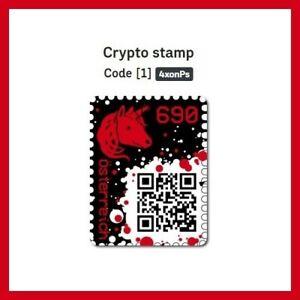 1 x CRYPTO STAMP RED / ROT ★ ★ ★ ★ ★ ORIGINAL   NEU / NEW   POSTFRISCH / MINT