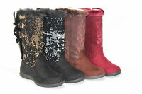 Joan Boyce Sequin Mid Shaft Boots W/ Bow's Pick Size & Color Nw