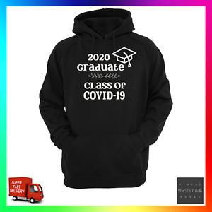 2020 Graduate Hoodie Hoody 19 Class Of Corona Lockdown Graduation Social