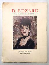 D. (Dietz) Edzard - Maximilien Gauthier Artist Painter 1952 Softcover French