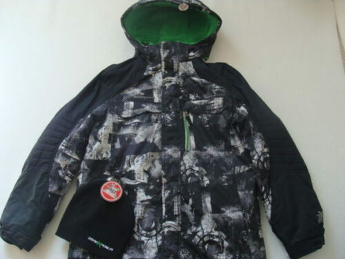 NWT Boys Zero XPosur Winter Jacket Size XL 18 20 Coat Snowboard Black Beanie NEW