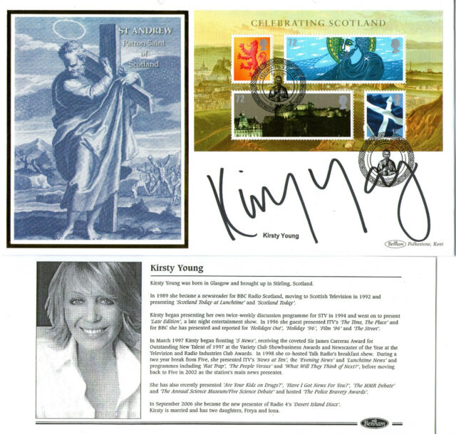 2006 CELEBRATING SCOTLAND SIGNED KIRSTY YOUNG BENHAM FIRST DAY COVER SHS