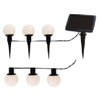 LED Solarlichterkette Standleuchte Balls Combo 6er außen 477-57