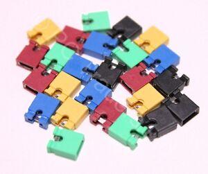 25x-2-54mm-Mixed-Jumper-Shunts-Bridges-Hard-Drive-DVD-Motherboards-Electronics