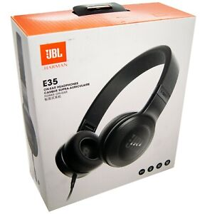 JBL-E35-Cable-ecouteurs-Casque-Sur-L-039-OreiLLe-ecouteurs-Noir-NEUF