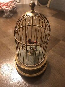 RARE-Vintage-German-Karl-Griesbaum-Ken-D-Red-Bird-In-Cage-Fully-Functional