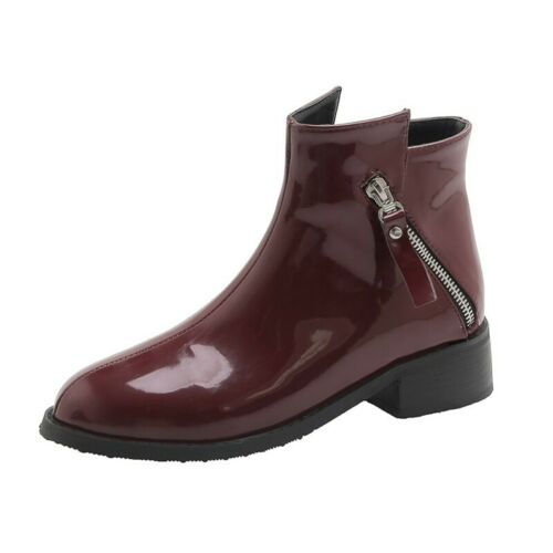 Details about  /Women Chelsea Ankle Boots Outdoor Casual OL Office Work Chunky Low Heel Shoes D