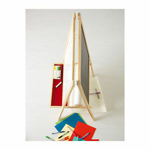 Ikea Mala Easel Soft Wood White Kids Children Boys Girls New Ebay