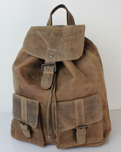 Retro XXL Leder Rucksack von Bayern Bag Oldschool Hunter Collection Backpack neu