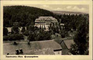 1956-TRAUTENSTEIN-Partie-am-Genesungsheim-Postkarte-DDR-Echtfoto-AK-ungelaufen
