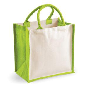 Westford-Mill-Printers-Midi-Jute-Shopping-Tote-Bag-Cotton-Carry-Handles-Handbag