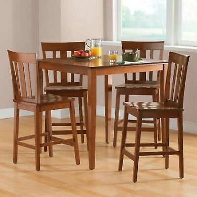 Mainstays Dining Set 5 Table Counter Height Chairs Kitchen ...