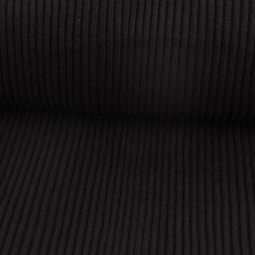 Manguera de punto pretina de tela de punto grueso negro 37cm ancho