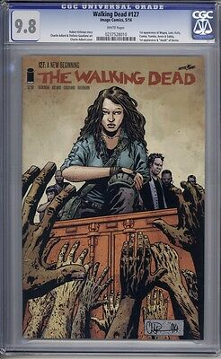 Walking Dead #127  1st Magna  1st Appearance of Outcast   CGC 9.8