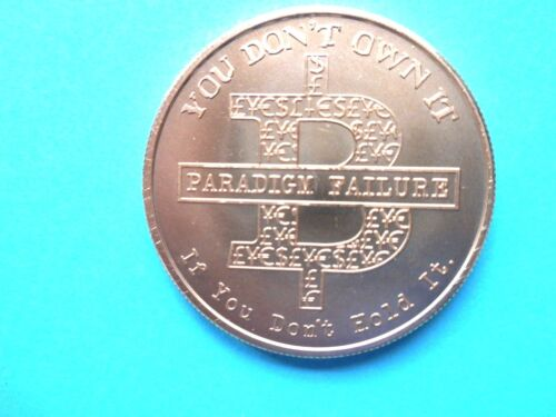 If You Don/'t Hold It, You Don/'t Own It 1oz Copper Round - 2016 Bitcoin