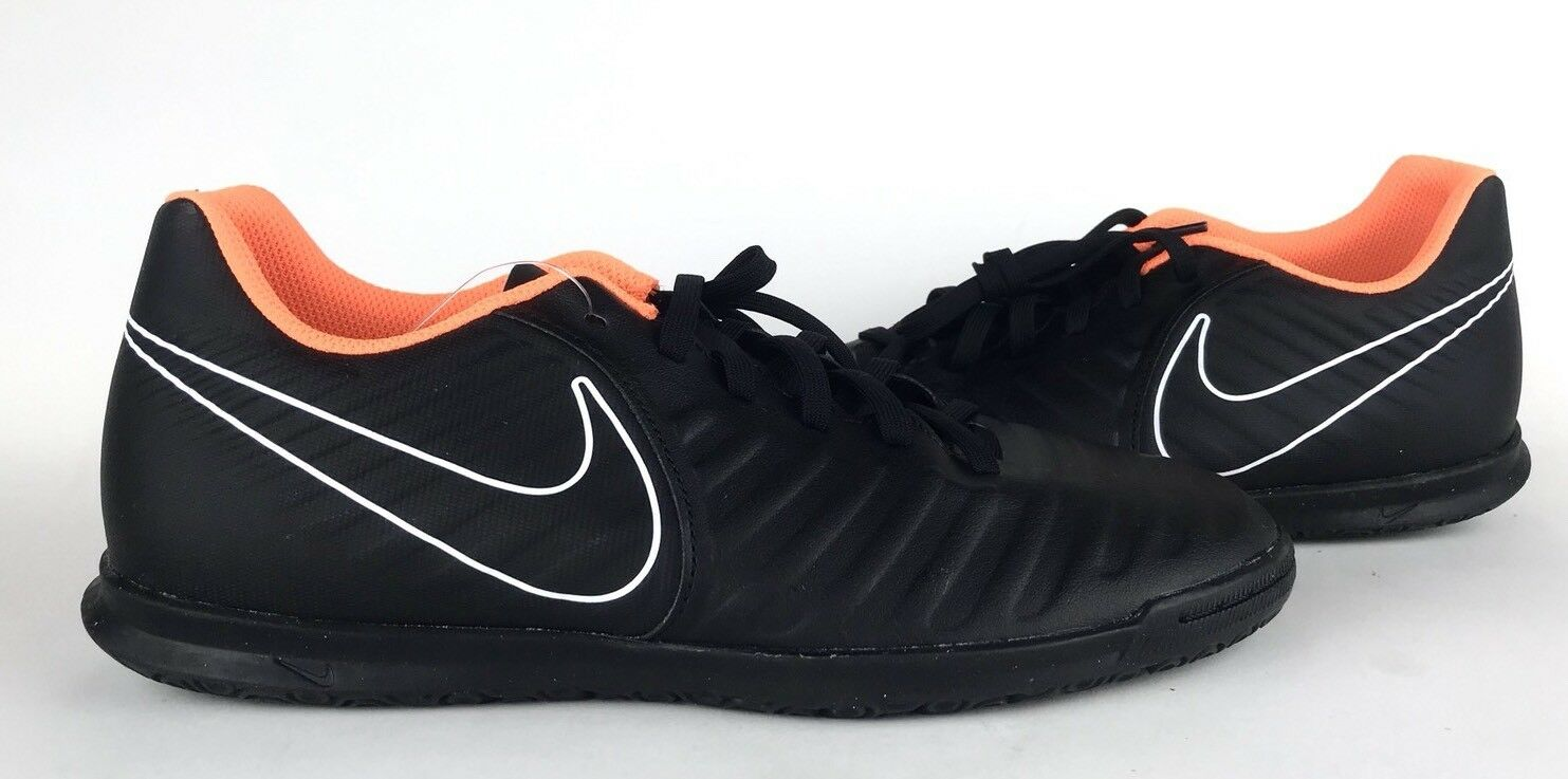 Nike Men's Tiempo-X Legend VII Club IC Indoor Soccer Black AH7245-080 Size 7