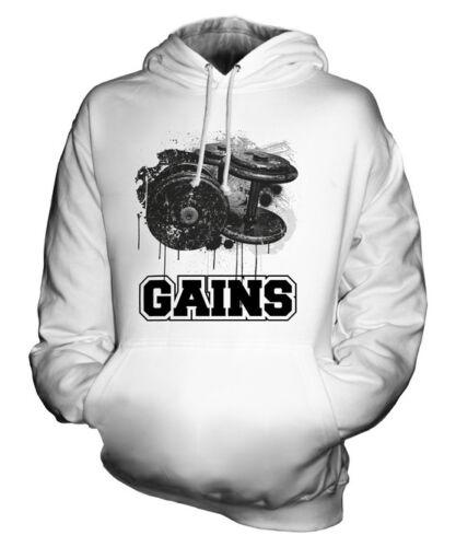 Motivation Gains Gym Capuche À Unisexe Cadeau Sweat Haut Fwq0wUHA
