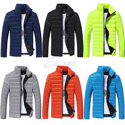 Hot New Men's Winter Warm Cotton Padded Thick Jacket Coat Parka Overcoat Outwear