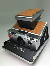 Polaroid SX-70 Ralph Lauren Saddle Brown Pebble Grain Leather PolaSkinz SLR680.