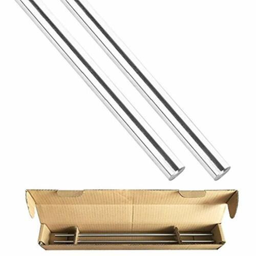 "15.98/"" Length Round Case Hardened Bar 2Pcs Linear Motion Rod 8 Mm X 406 Shaft"