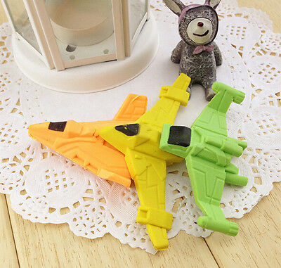 Novelty Airplane Aeroplane Eraser Fun Kids Party Bag Gift UK Cool Set