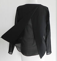 Brandy Melville Top Black Hi-low Long Sleeve Size M