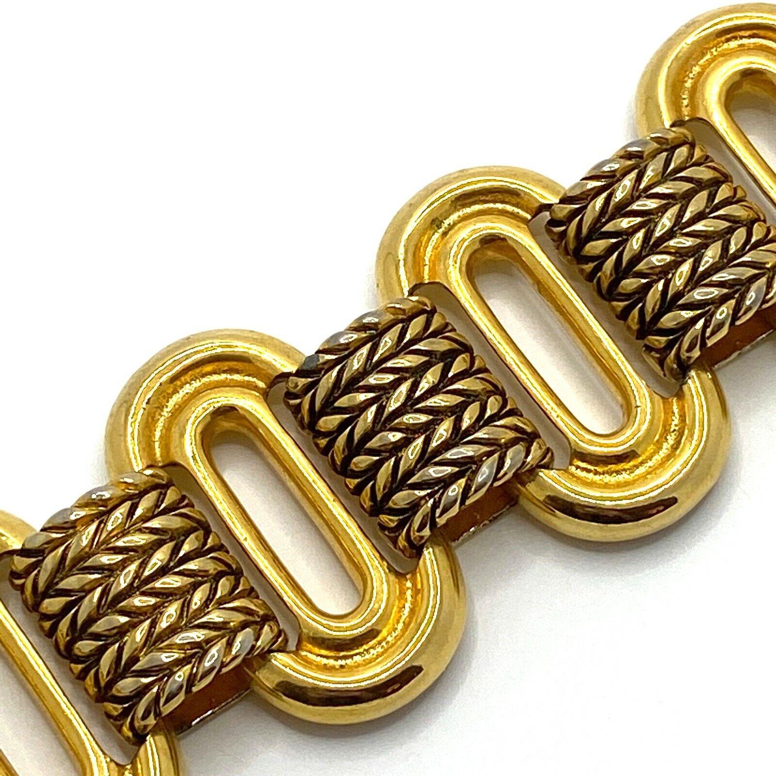Vintage Claire Deve Paris Bracelet Signed Chunky … - image 2