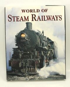 Vintage-WORLD-OF-STEAM-RAILWAYS-Railroad-Train-History-Collectible-Book-1994