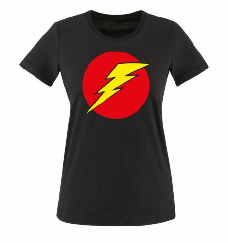 Damen Frauen T-Shirt Gr XS bis XXL Versch Fa Sheldon Blitz Big Bang Theory