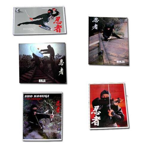 Set of 5 ninja posters (211,212,214,216,217) - FREE P&P