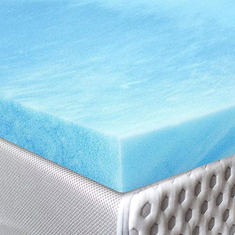 rot Nomad Quality Gel Infused Visco Elastic Memory Foam Mattress Pad Bett Topper