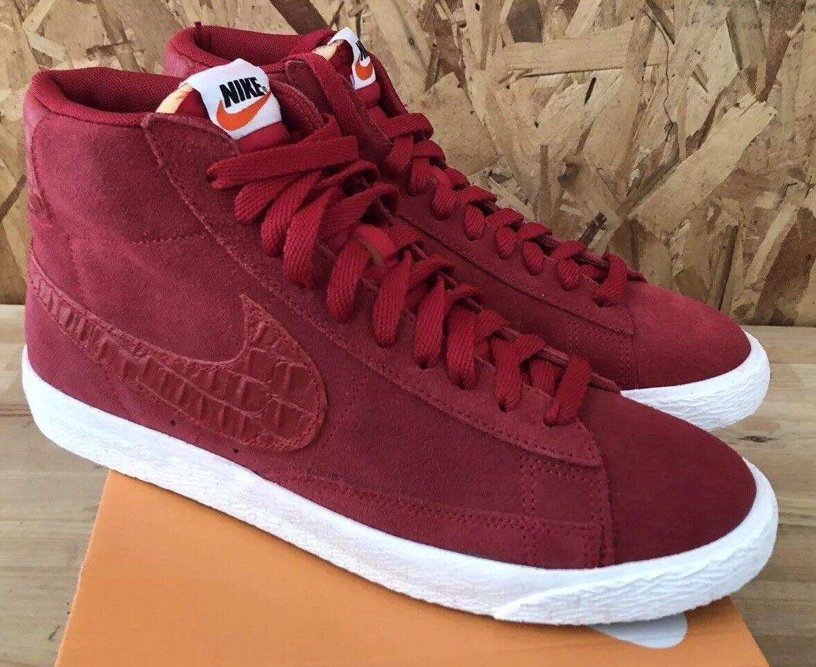 Nike Blazer Mid PRM VNTG Gym Red Sail Sz 10.5 NIB 638261-601