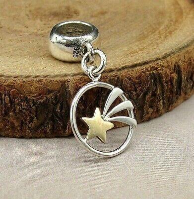 .925 Sterling Silver WOLF Dangle Bead CHARM fits EUROPEAN Bracelet *NEW*