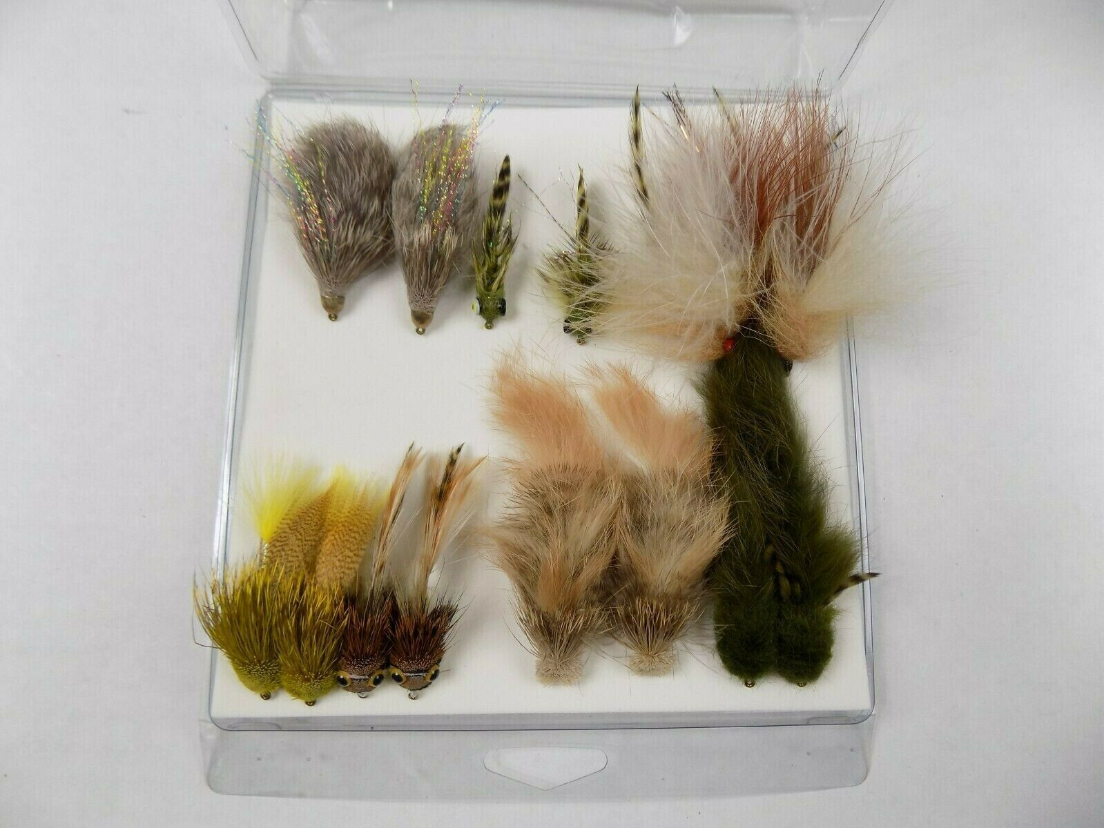 Vintage Fur Fishing Lures Bait Bait Bait Lot of 10 2f2d52