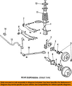 toyota oem 04 06 camry rear suspension coil spring 48231aa200 ebay rh ebay com toyota camry suspension diagram 2006 2005 toyota camry suspension diagram
