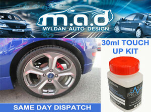 FIESTA-ST-ALLOY-WHEEL-TOUCH-UP-PAINT-KIT-BRUSH-FORD-CURBING-ST-2-ST-3-RADO-GREY