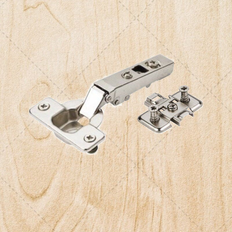 Self Closing Cabinet Hinges Full Overlay Concealed 90 deg w  Plate hc00.0161.05