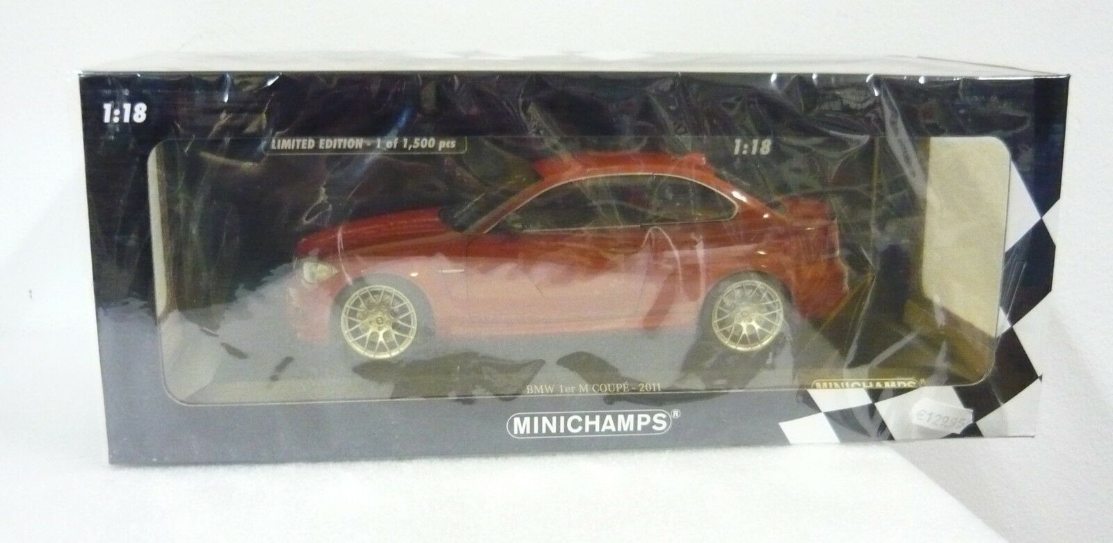 Minichamps 110020020, BMW 1er M Coupé, 2011, arancione metallizzato, 1/18, neu&ovp